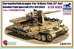 Versuchsflakwagen Fur 8.8cm Flak.37 Auf -- Plastic Model Military Vehicle -- 1/35 Scale -- #35174