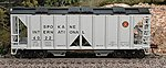 70-Ton 2-Bay Open-Side Covered Hopper Spokane Int -- HO Scale Model Train Freight Car -- #40467
