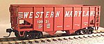 55-Ton 2-Bay Fishbelly Hopper Western Maryland #13408 -- HO Scale Model Train Freight Car -- #56864