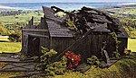 Fallen Barn Laser-Art Kit -- O Scale Model Railroad Building -- #449
