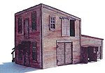 Dan's Welding & Fabrication Laser-Cut Wood Kit -- O Scale Model Railroad Building -- #491