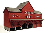 Crosby Coal Laser-Art Kit -- O Scale Model Railroad Building -- #494