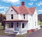 Ronald Reagan Boyhood Home Laser-Art Kit -- HO Scale Model Railroad Building -- #603