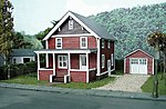 The Suburban Catalog House Kit -- HO Scale Model Railroad Building -- #623