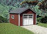 Hudson Garage Laser-Art Kit -- HO Scale Model Railroad Building -- #632