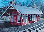 Cannondale Train Station Kit -- HO Scale Model Railroad Building -- #661
