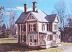 Dubois House Laser-Art Kit -- N Scale Model Railroad Building -- #800