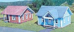 Thelma & Stanley Houses Laser-Art Kit (2) -- N Scale Model Railroad Building -- #819
