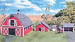 Barn & Outbuildings Laser Art Kit -- N Scale Model Railroad Building -- #850