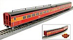 SP Coast Daylight Train #98 Articulated Chair Car -- HO Scale Model Train Passenger Car -- #1572