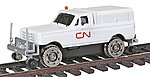 Hi-Rail Pickup Truck w/Cap Canadian National (white) -- HO Scale Model Train Passenger Car -- #1913