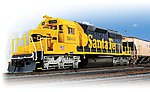 SD40-2 with Sound ATSF #5044 -- HO Scale Model Train Diesel Locomotive -- #4209