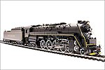 Reading T1 4-8-4 2124 with Sound -- HO Scale Model Train Steam Locomotive -- #4470