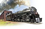 Norfolk & Western CL A 2-6-6-4 #1232 with Sound -- HO Scale Model Train Steam Locomotive -- #4478