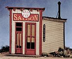 Red Eye Saloon -- O Scale Model Railroad Building -- #17460