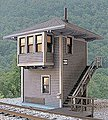 Chesapeake & Ohio MD Cabin (Interlocking Tower) - Kit -- O Scale Model Railroad Building -- #17650
