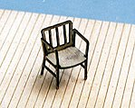 Captain's Chairs Kit (4) -- HO Scale Model Railroad Building Accessory -- #23017