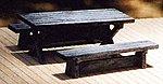 Logger (Picnic) Table Kit -- HO Scale Model Railroad Building Accessory -- #23018