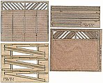 Lattice-Base Wood Billboard - Kit McCabe Lumber -- HO Scale Model Railroad Scenery -- #23026
