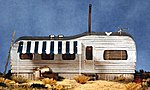Junior's Shiner (Old-Style Trailer Home) -- HO Scale Model Railroad Building -- #27405