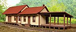 Deer Lick Station Kit -- HO Scale Model Railroad Building -- #27601