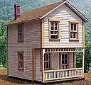 114 Second Street - 17 x 21' 5.2 x 6.4m Scale -- HO Scale Model Railroad Building -- #27702