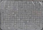 Concrete Sidewalk Material (Laser-Cut Card) -- O Scale Model Railroad Building Accessory -- #10400