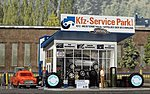 Tire Service Center w/Tow Truck -- HO Scale Model Railroad Building -- #1062