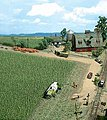 Corn Field - Kit - 10 x 10cm -- HO-Scale Model Railroad Grass Earth -- #1202