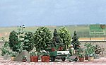 Garden Detail Set - Kit -- HO Scale Model Railroad Building Accessory -- #1211