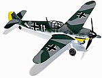 Messerschmidt Bf 109 F4 WWII Aircraft Oswald Fischer -- HO Scale Model Railroad Vehicle -- #25010