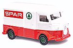 1958 Citroen H Van - Assembled Spar (white, red, green) -- HO Scale Model Railroad Vehicle -- #41907