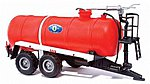 European Tank Trailer - Zullsdorf Fire Department -- HO Scale Model Railroad Vehicle -- #42863