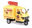 2006 Piaggio Ape 50 3-Wheel Pickup Truck Sippel Bakery -- HO Scale Model Railroad Vehicle -- #48471