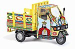 2006 Piaggio Ape 50 3-Wheel Truck Sizilien Graphics -- HO Scale Model Railroad Vehicle -- #48481
