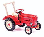 1957 Porsche Junior K Farm Tractor With Roll Bar -- HO Scale Model Railroad Vehicle -- #50004