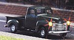 1950 Chevy Pickup Truck w/Working Lights - 14-16V AC/DC -- HO Scale Model Railroad Vehicle -- #5643