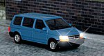 Chrysler Voyager Van w/Working Headlights & Taillights -- HO Scale Model Railroad Vehicle -- #5657