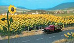 Sunflower Field - Parts for 60 Flowers w/Bases (60) -- HO Scale Model Railroad Grass Earth -- #6003