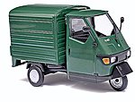 2006 Piaggio Ape 50 3-Wheel Green Pickup Truck -- O Scale Model Railroad Vehicle -- #60051