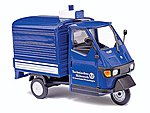 2006 Piaggio Ape 50 3-Wheel Blue Pickup Truck -- O Scale Model Railroad Vehicle -- #60053