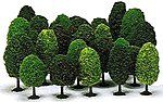 Deciduous Tree Assortment - pkg(25) -- HO Scale Model Railroad Tree -- #6487