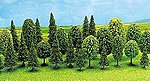 Mixed Forest Tree Set (12) -- N Scale Model Railroad Tree -- #6589