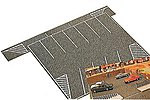 Flexible Parking Lot - 8 x 6-1/2'' -- HO Scale Model Railroad Road Accessory -- #7076
