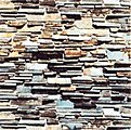 Wall Card 8-1/4'' x 5-13/16'' Layered Stone -- HO Scale Model Railroad Road Accessory -- #7421