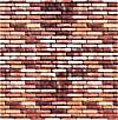 Wall Card 8-1/4'' x 5-13/16'' Red Brick -- HO Scale Model Railroad Road Accessory -- #7425