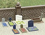 Complete Miniature Scene - Rest in Peace -- HO Scale Model Railroad Building Accessory -- #7662