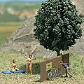 Admiring the Scenery (Nudist Colony - Adult) -- HO Scale Model Railroad Figures -- #7669