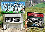 Milk Bar/Roadside Stand -- HO Scale Model Railroad Roadway Scenery -- #7721
