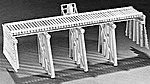 50' Open Deck Pile Trestle -- HO Scale Model Railroad Trestle Kit -- #302